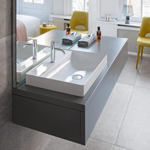 West One Bathrooms Online Duravit DuraSquare Furniture Basin 03