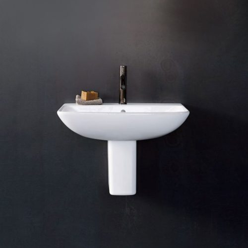 West One Bathrooms Online Duravit ME by Starck Handrinse Basin with Overflow 450 x 320mm