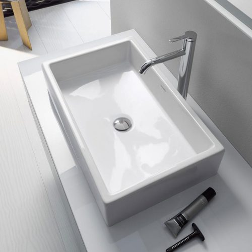 West One Bathrooms Online duravit vero air countertop washbasin w 60 h 13 d 38 cm white  dur 235160 1