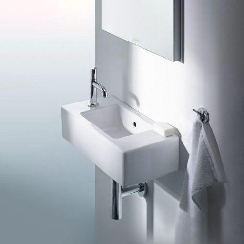 west one bathrooms online Duravit Vero Handrinse Basin with Overflow 500x250mm 02