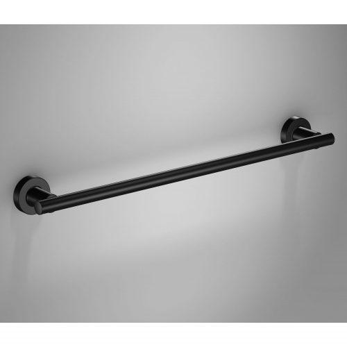 166190 tecno project black towel rail 51cm