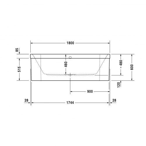 Bathwaters   Duravit   700319V