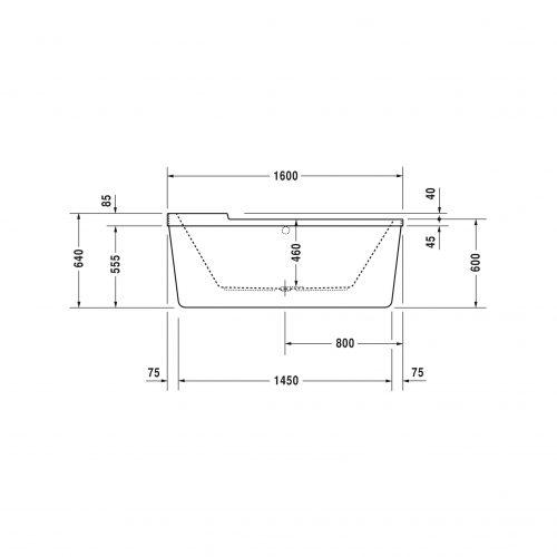 Bathwaters   Duravit   700409V 1HR WP