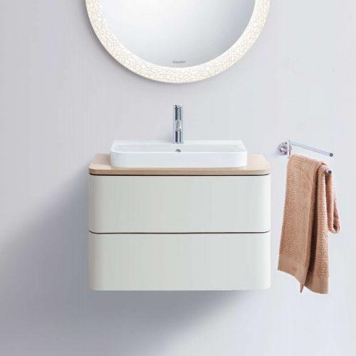 West One Bathrooms Online Duravit Happy D2 Plus Surface Basin 500x400mm