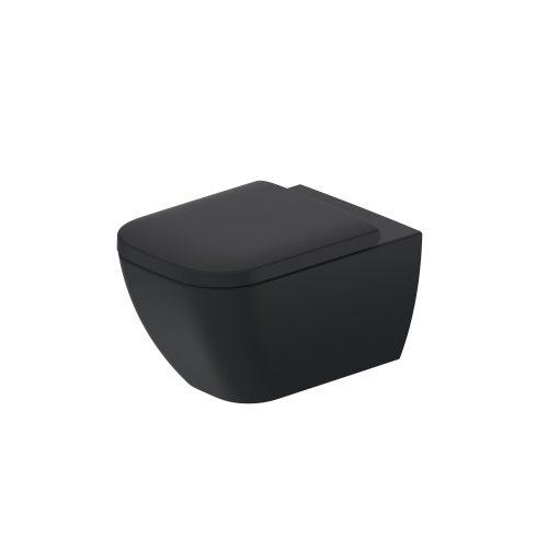 Duravit Happy D2 Wall Hung WC Black – 2222098900