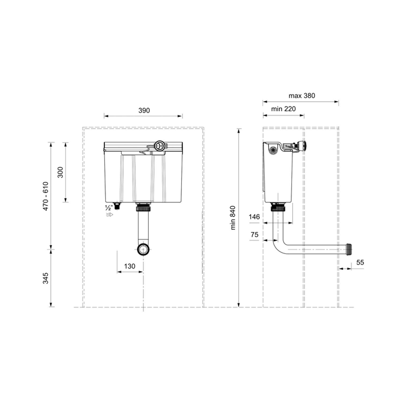 West One Bathrooms Online DF Cistern Tech