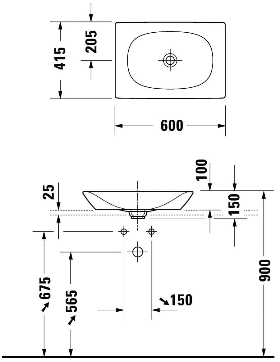 Viu above counter basin Technicals