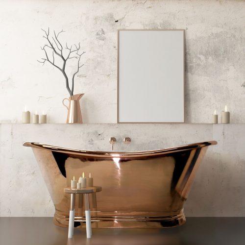 Bathwaters   BAC040 + BAC045 BCD Copper Bath Set (1)