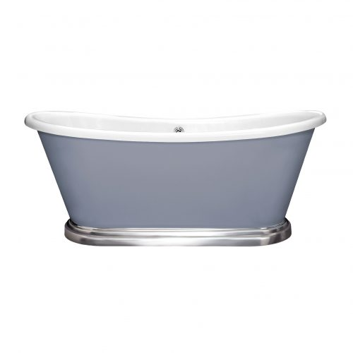 Bathwaters   BAS765 Boat Bath Chrome Plinth