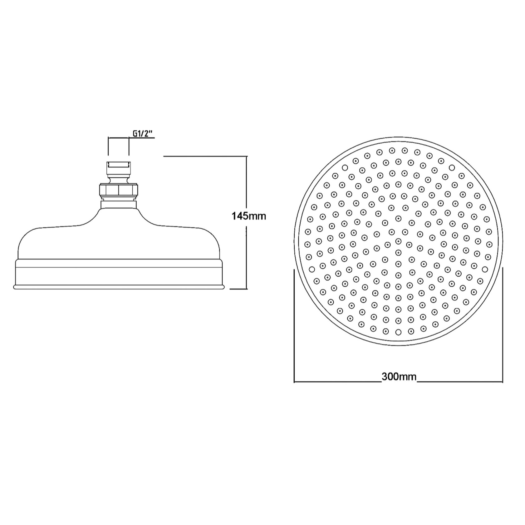 Bathwaters Technical BC Designs Victrion 12 inch Shower Head