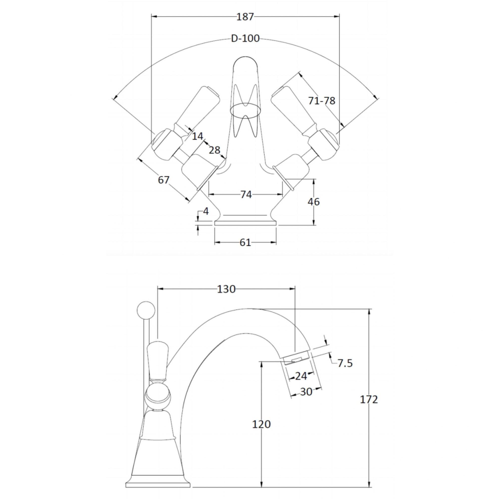 BC Designs Victrion Lever Mono Basin Mixer