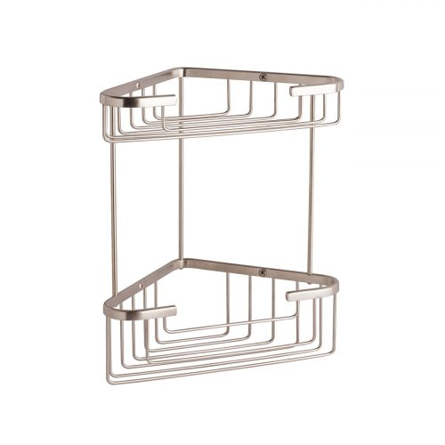 CMA055G Double Corner Shower Basket Brushed Nickel