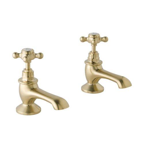 CTA010BG Bath Pillar Cross Brushed Gold
