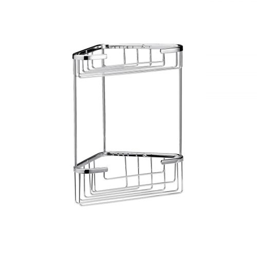 West One Bathrooms Online – CMA055G Double Corner Shower Basket Chrome