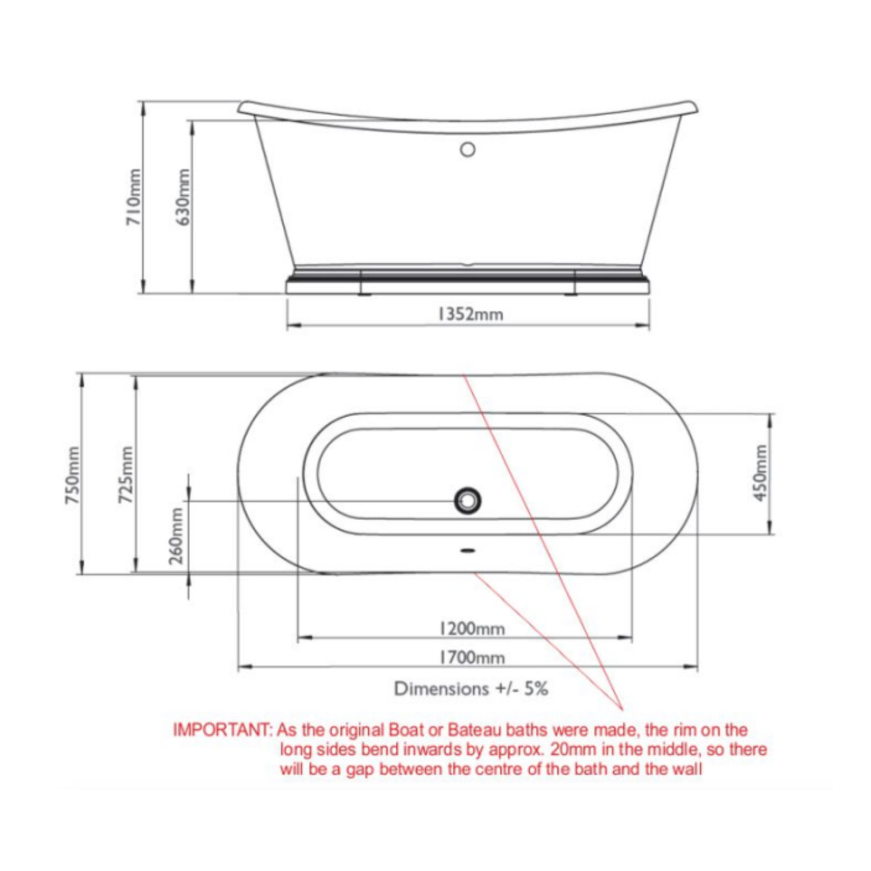 Bathwaters 1700 Boat Bath Technical