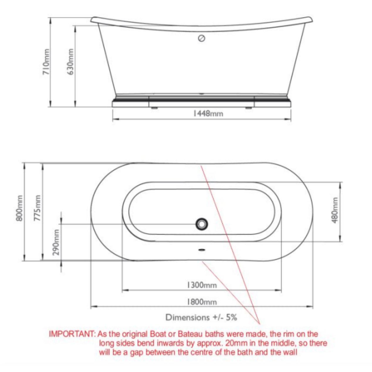 Bathwaters 1800 Boat Bath Technical