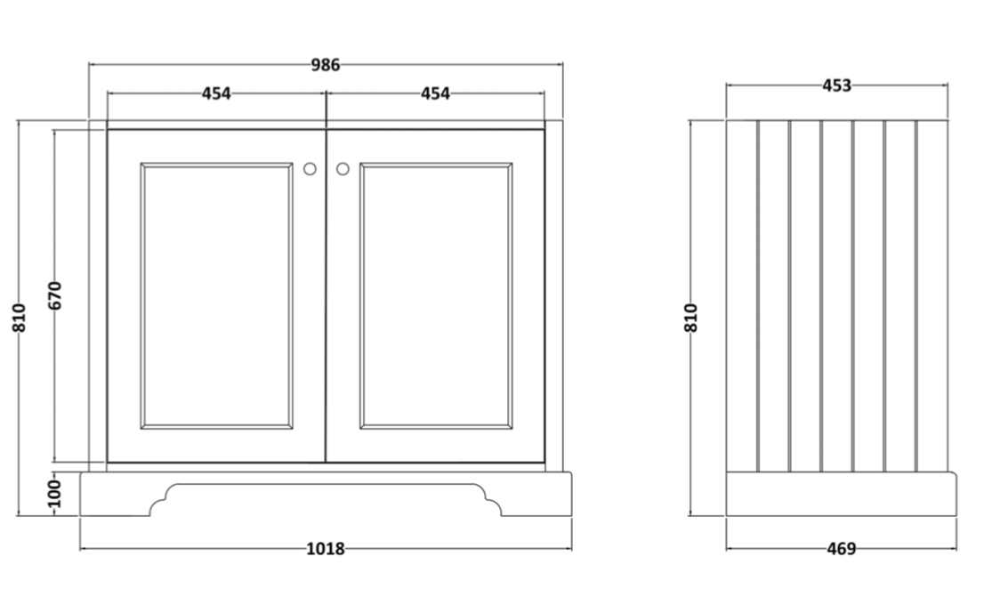 Bayswater 1000m2 door cabinet technical
