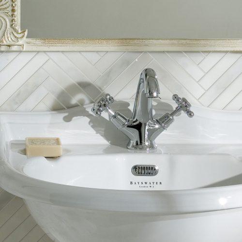 West One Bathrooms Mono Crosshead Basin Mixer