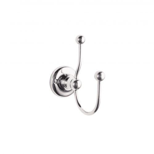 West One Bathrooms Online baya012 double robe hook 1
