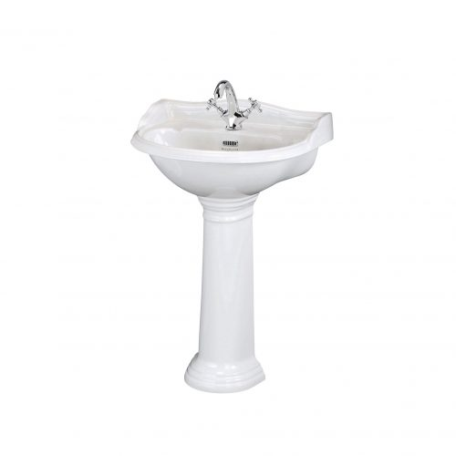 West One Bathrooms Online bayc101 bayc102 600mm 1th basin ped 02