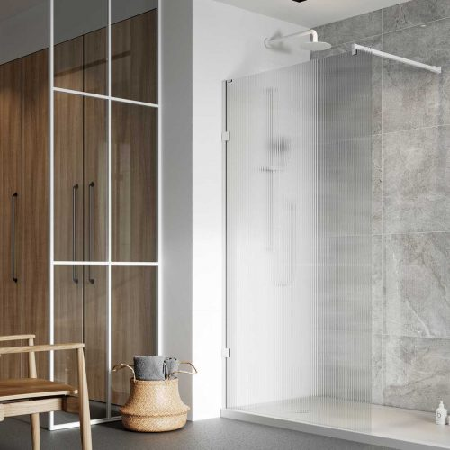 Liberty fluted wetroom panels white