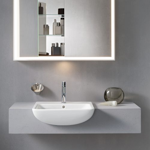 West One Bathrooms ME by Starck Semi Inset Basin 7785