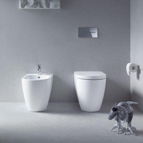 West One Bathrooms Online Duravit Me By Starck Bidet, Floor Standing
