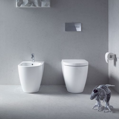 West One Bathrooms Online Duravit ME By Starck Toilet, Floor Standing, Back To Wall, 370 x 600mm