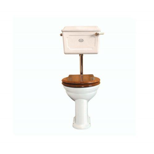 Low level Ceramic Cistern WC Set AW PB
