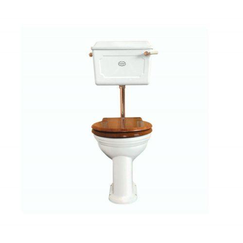 Low level Ceramic Cistern WC Set White PB