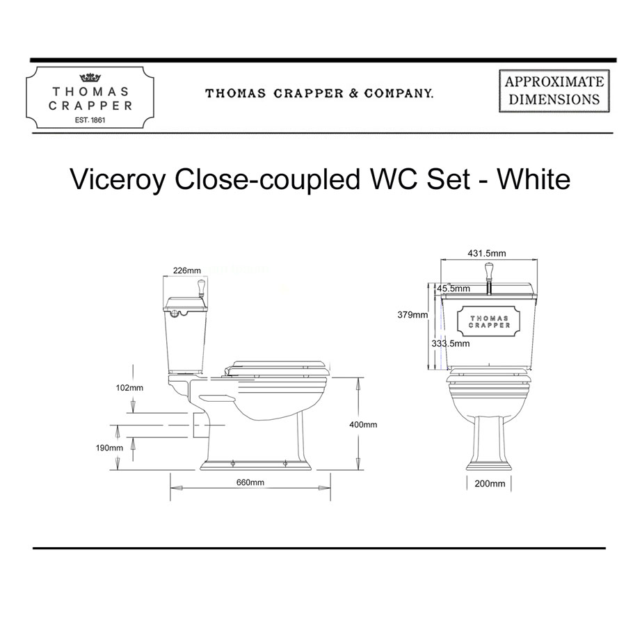 Viceroy Close coupled WC Set – White