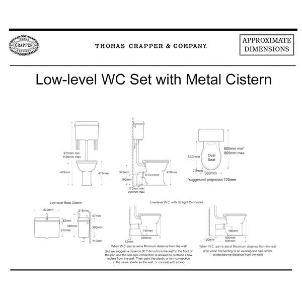WC Set 814 Cistern & Oval Seat