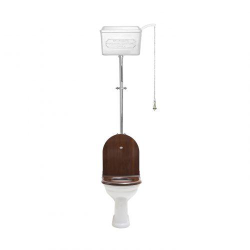 West One Bathrooms – 814 Cistern D shape set White CP