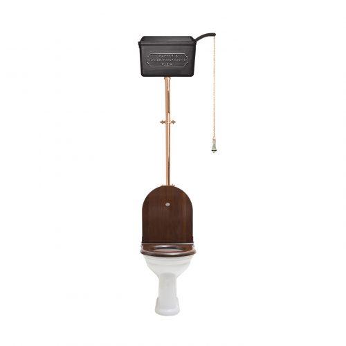 West One Bathrooms – HL 814 Cistern D shape Black PB