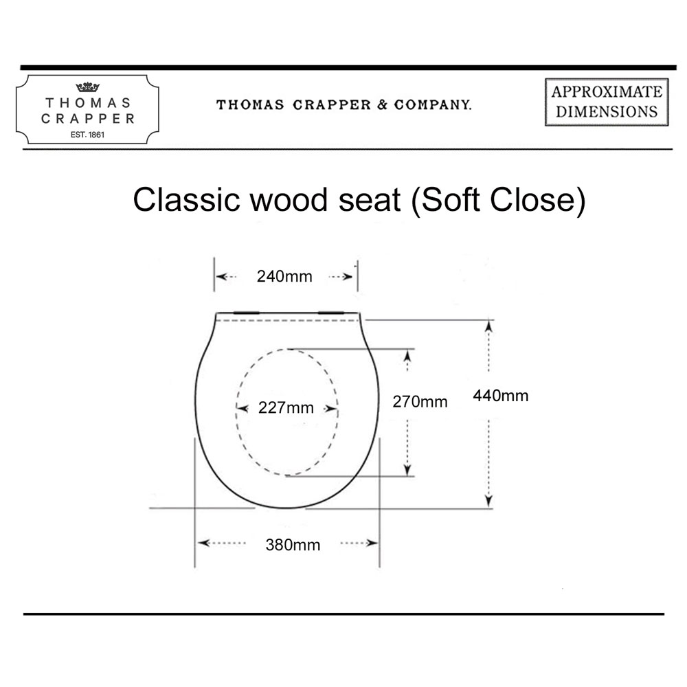 West One Bathrooms Online – 01 Classic wood seat (Soft Close)