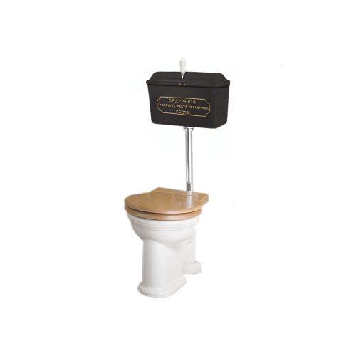 West One Bathrooms Online   814 Cast Cistern Low level WC Set Black CP