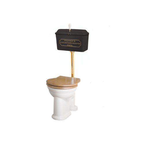West One Bathrooms Online   814 Cast Cistern Low level WC Set Black PB