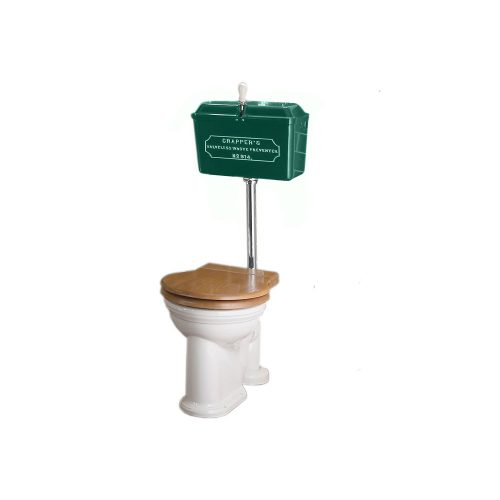West One Bathrooms Online   814 Cast Cistern Low level WC Set Green CP