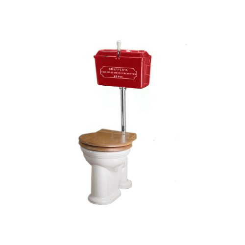 West One Bathrooms Online   814 Cast Cistern Low level WC Set Red CP