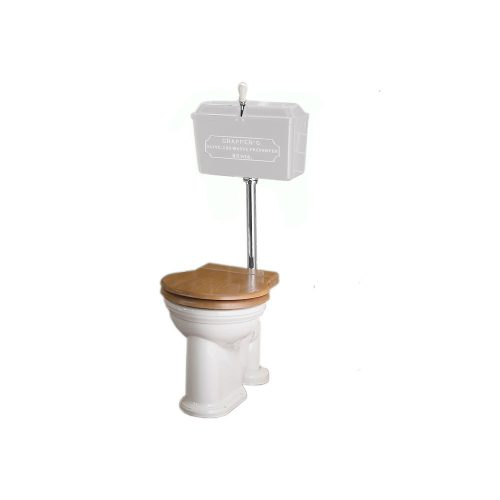 West One Bathrooms Online   814 Cast Cistern Low level WC Set White CP