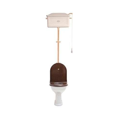 West One Bathrooms Online   High level WC Set with Ceramic Cistern AW PB