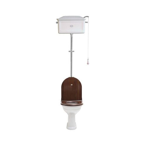 West One Bathrooms Online   High level WC Set with Ceramic Cistern White CP