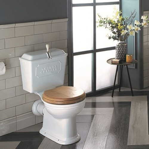 West One Bathrooms Online ViceroyWCPanCisternWhiteOakseat