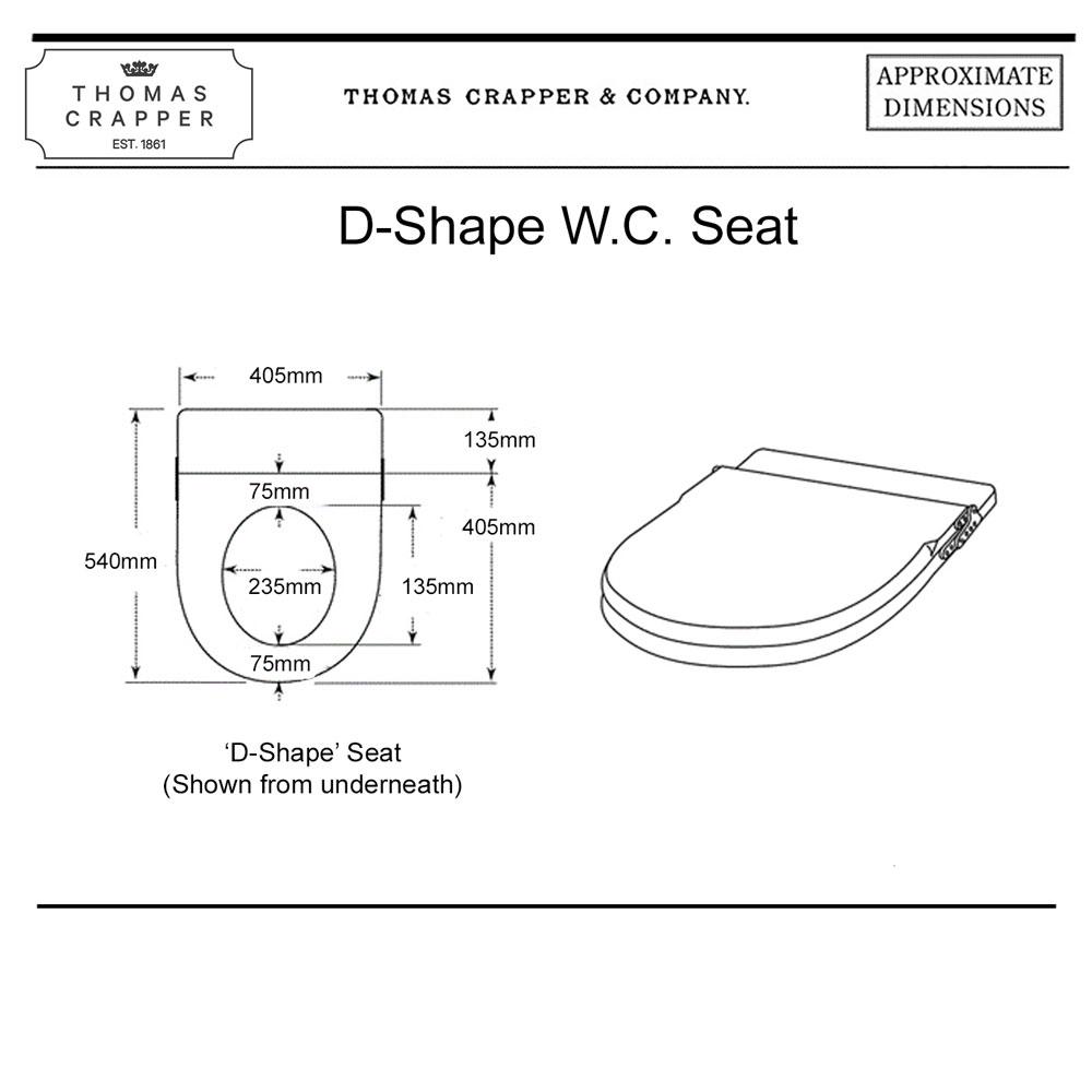 D Shape WC Seat