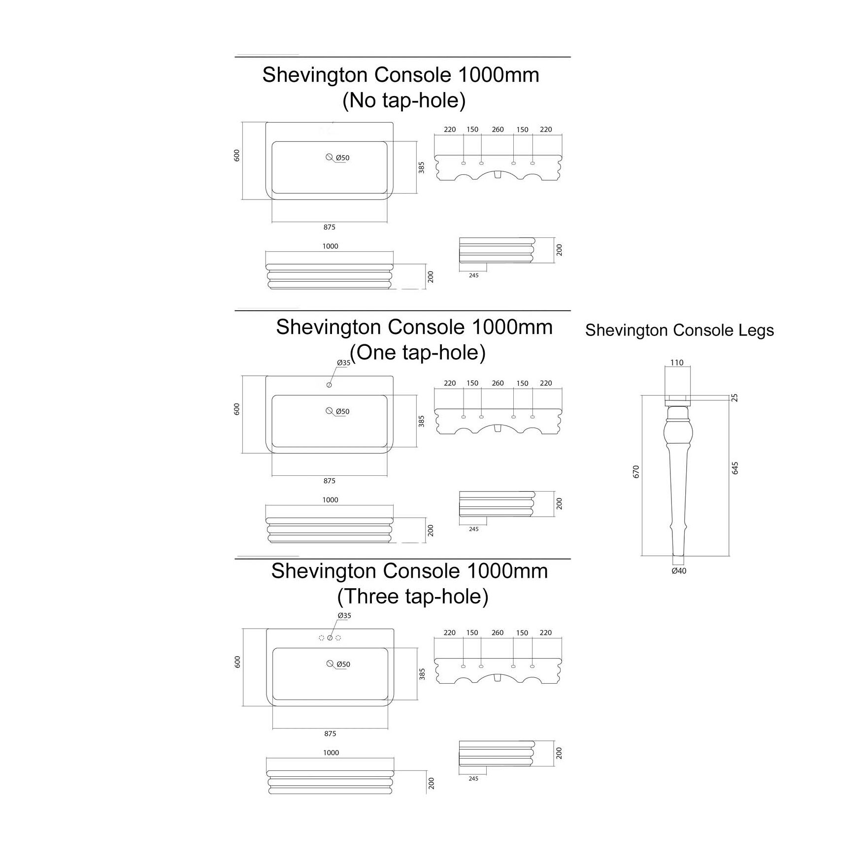 West One Bathrooms Online – Shevington Console Tech