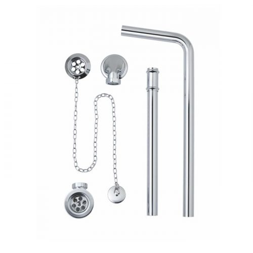 Exposed Bath Waste Plug Chain with Overflow Pipe 74.1