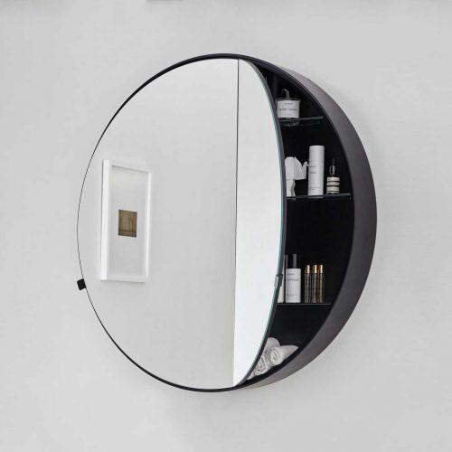 West One Bathrooms Round Box Mirror 2
