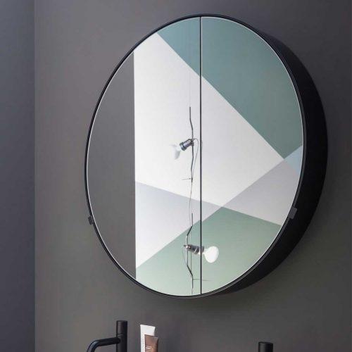 West One Bathrooms Round Box Mirror 3