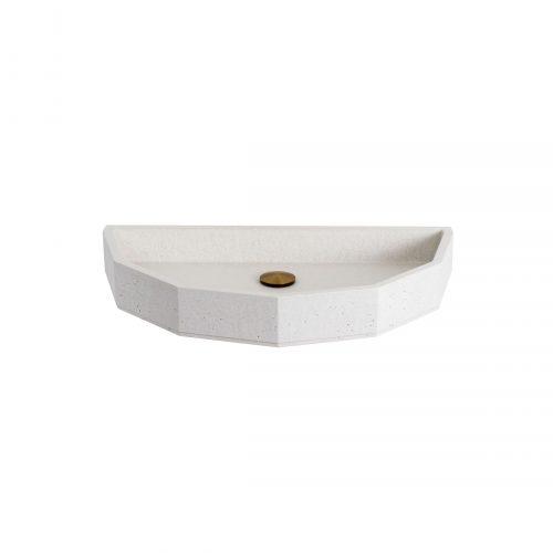 West One Bathrooms Online Elle & James Siena Snow White Concrete Basin Cut Out LR 02