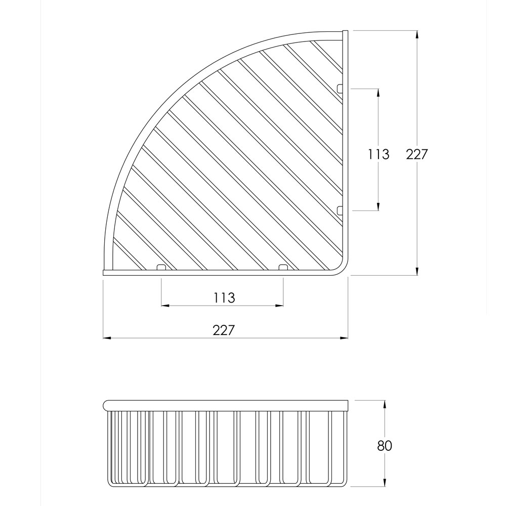DO7007 SPEC TRIANGULAR SOAP BASKET
